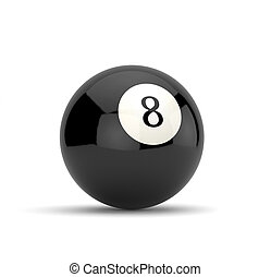 Eight ball - 3d render of eight ball isolated on white...