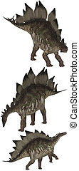 Stegosaurus lived in North America and Portugal - isolated...