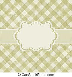 Old card design, gold vintage frame. EPS 8