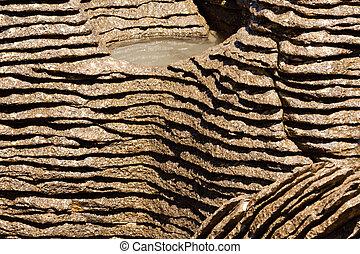 Background of Pancake Rocks of Punakaiki, NZ