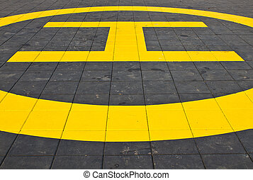 Yellow helipad