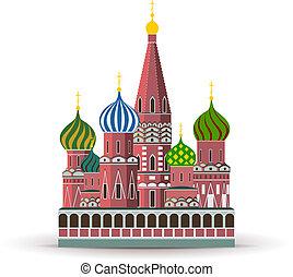 Kremlin, St. Basil Cathedral - Vector Kremlin, St. Basil...