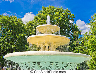 Ancient Fountain in Gorky Park, Moscow, Russia, East Europe