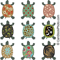 Safari Turtle - Scalable vectorial image representing a...