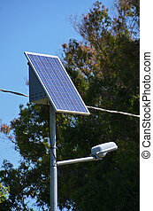 solar panel and street-lamp - photovoltaic panel and...