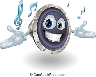 Speaker man character - Illustration of a smiling cartoon...