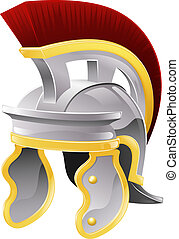Roman helmet - Illustration of Roman soldier's galea style...