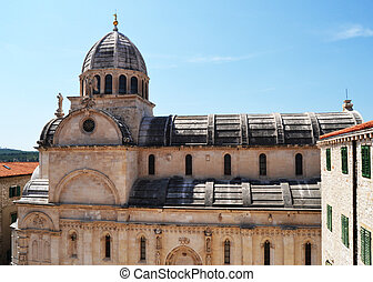 Cathedral of Sibenik, Croatia - Monumental dome of the...