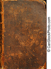 Ancient bible cover - Photo of the tattered cover of a bible...
