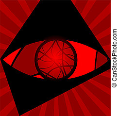 background red eye - red background variation: eye...
