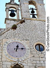 Sibenik particular clock with 24 hours