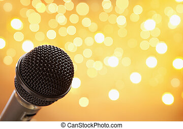Microphone with blur light