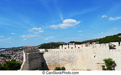 Castle of Sibenik, Croatia - Remains of the walls of the...