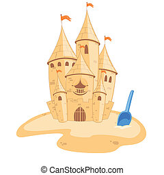Vector sandcastle - Vector illustration of an sandcastle