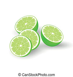 Fresh vector limes - vector illustration of limes