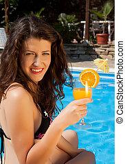 Orange juice on a hot day