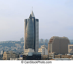 Haifa - A modern high-rise building of Haifa city