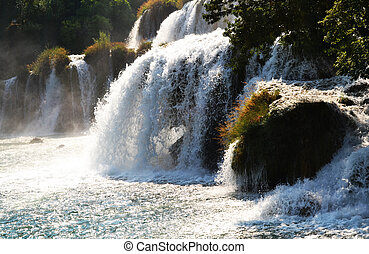 Waterfalls of Krka - Wonderful Waterfalls of Krka Sibenik,...