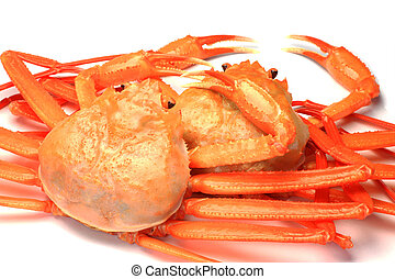 deep red snow crab - I took deep red snow crab in a white...