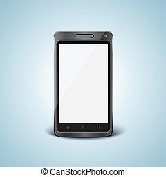 Vector cellphone with blank screen - Vector cellphone in...