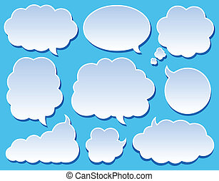 Comics bubbles collection 2 - vector illustration