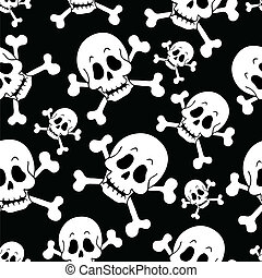 Seamless pirate theme background 1 - vector illustration.
