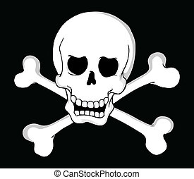 Pirate skull theme 2 - vector illustration
