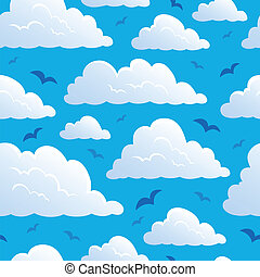 Seamless background with clouds 7