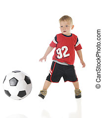 Two-Year Olds Can Kick - A two year old in his athletic...