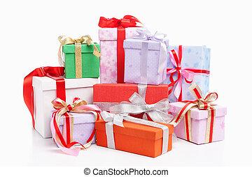 Pile of Christmas gift