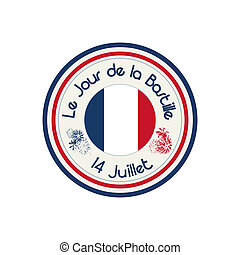 Bastille Day celebration stamp