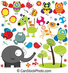 Design elements illustration - Large set of design elements...