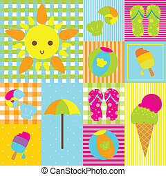 Summer design - A vector illustration of summer design...