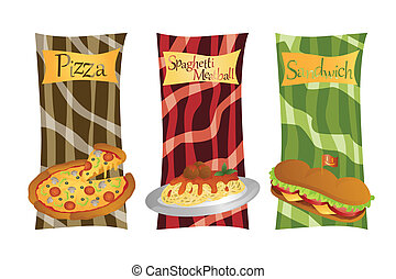 Italian food menu - A vector illustration of Italian food...