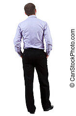 back view of Business man