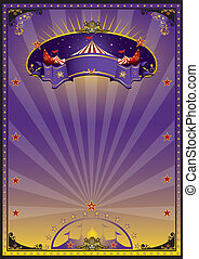 Purple circus - A purple and orange circus poster for your...