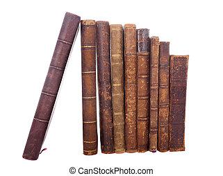 stack antique books