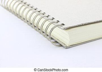 canto, anel, fichário, caderno