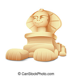 Sphinx Model - illustration of sphinx model on white...