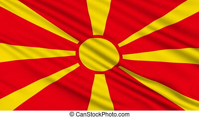 Macedonia Flag - Macedonia Flag, with real structure of a...
