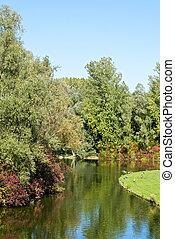 Rheinaue Park in Bonn - Rheinaue, a leisure park on the...
