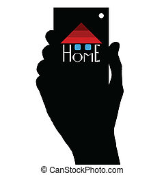 home illustration in hand