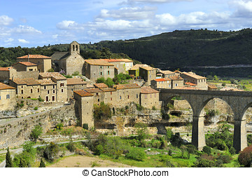 Minerve, France - The little winegrower village Minerve in...