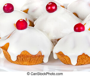 delicious cake with icing - delicious cake with sour cream...