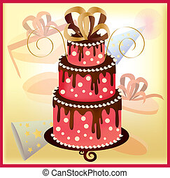 birthday cake 1 - is an illustration in EPS file.