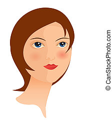 woman face 7 - is an illustration in EPS file.
