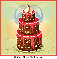 birthday cake 2 - is an illustration in EPS file.