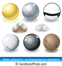 Vector balls - Balls collection with different materials:...