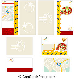 Pizza restaurant stationary - brochure design, flyer design...