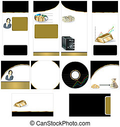 Gold stationary template